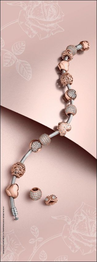Lavish beauty comes to life in PANDORA Rose. #PANDORATexas #PANDORAbracelets #PANDORAcharms