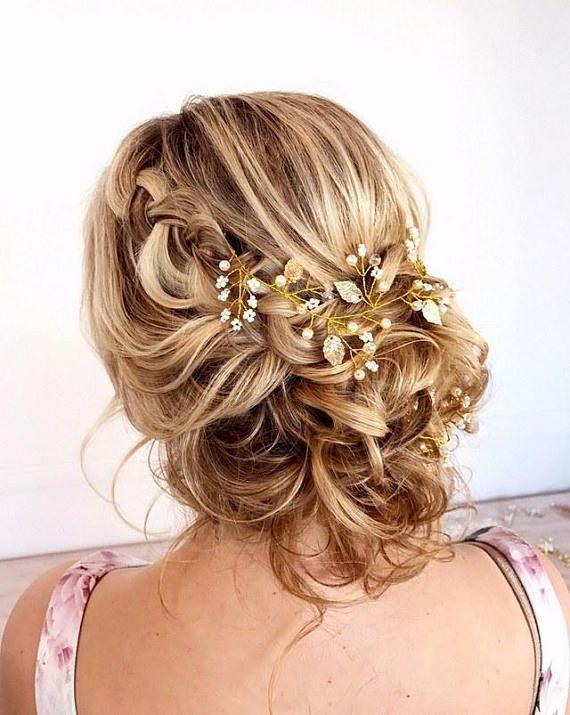 Leaf Wedding Hair Vine, Bridal Hair Vine, Gold Bridal Vine, Wedding Hair Accessories, Bridal Hair Je