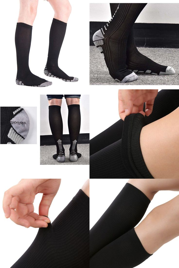 [Visit to Buy] Unisex Socks Firm Pressure Circulation Quality Hose Socks Compression Knee High Orthopedic Support Stockings New #Advertisement