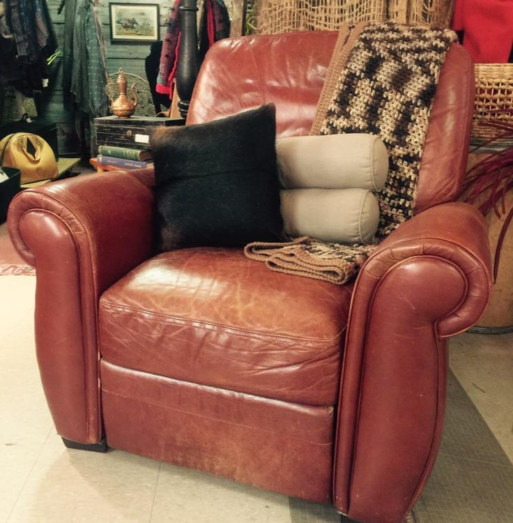 Vintage leather recliner from Cactus Creek