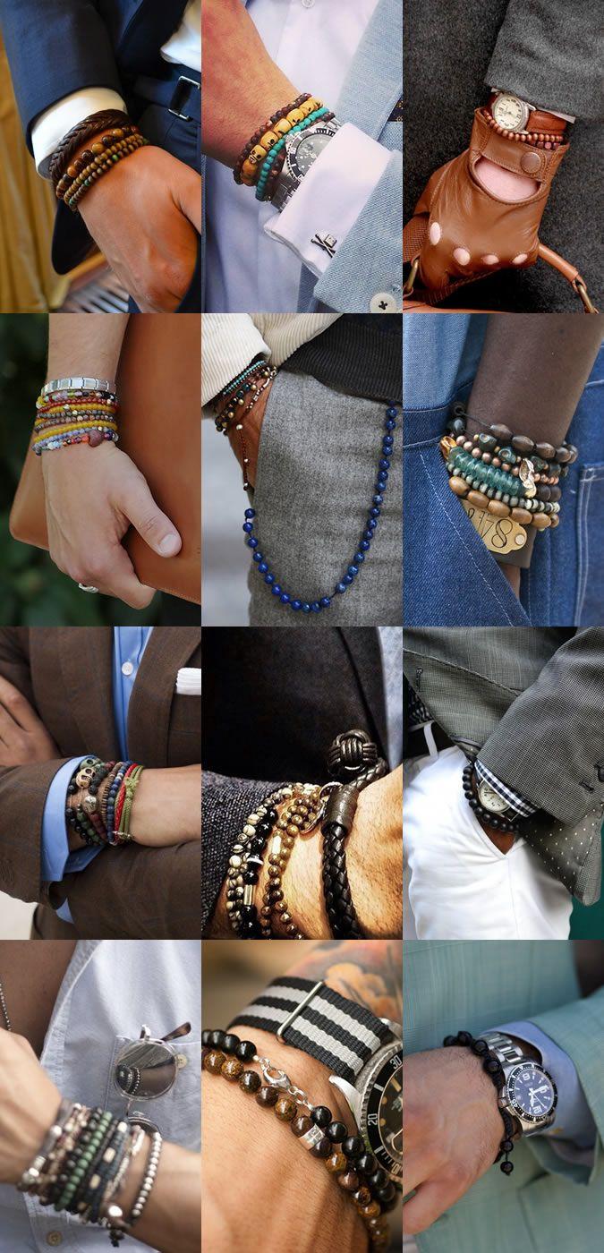 Men's Beaded Bracelets Lookbook