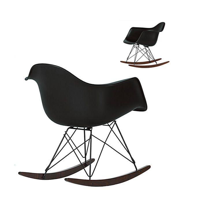Vitra RAR Eames Plastic Rocking Armchair Black bei prooffice.de #schaukelstuhl #rockingchair #armchair #stuhl #chair #sessel #schwarz #black