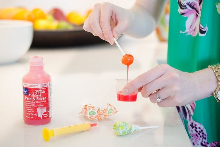 Dip a Dum Dum lollipop in cough syrup if your child hates the taste of medicine.