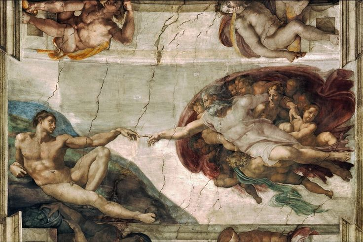 Canvas Prints By Michelangelo Creation Of Adam Famous Oil Painting Printed For Hall CmChina Mainland
