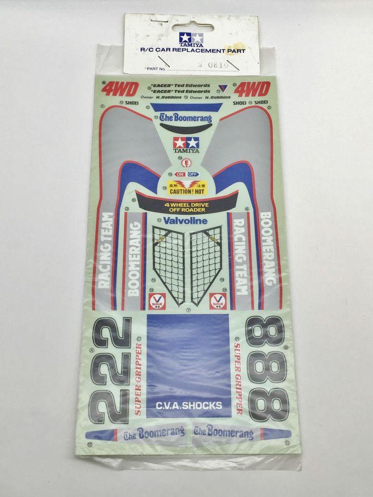 Vintage Tamiya Boomerang Decal Sheet 1986 (X9809) For Kit No.58055