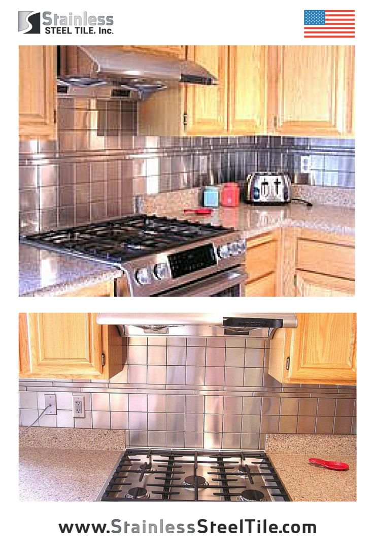 stainless steel tile backsplash modern metal tiles