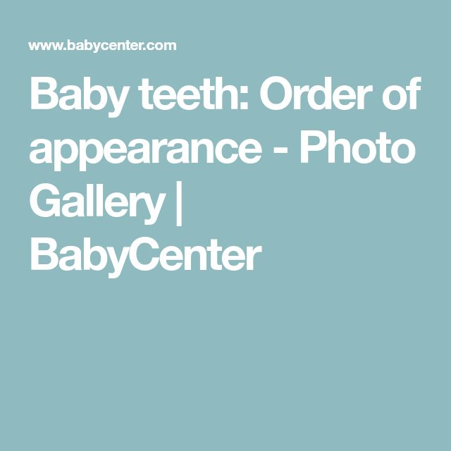 The  Best Baby Teeth Order Ideas On   Pregnancy