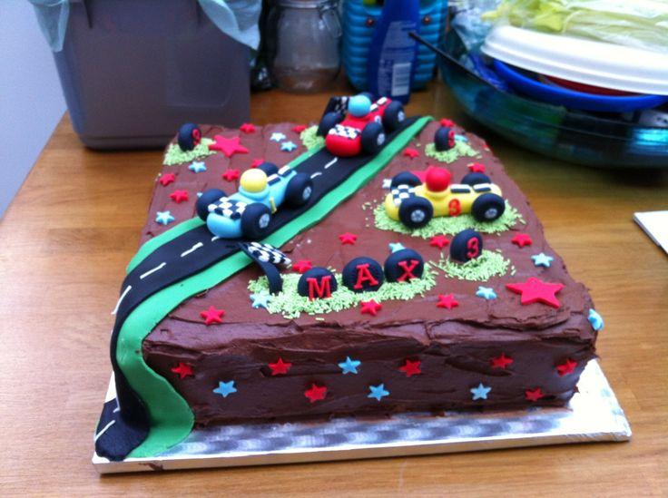 Racing car cake