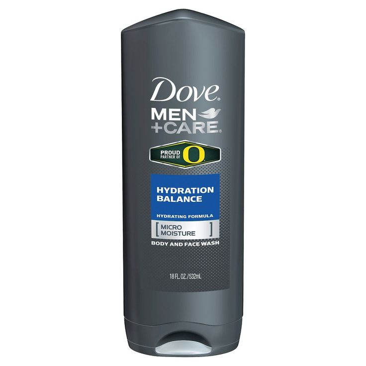 Dove Men+Care Oregon Duck Hydration Balance Body Wash 18 oz, Light Clear