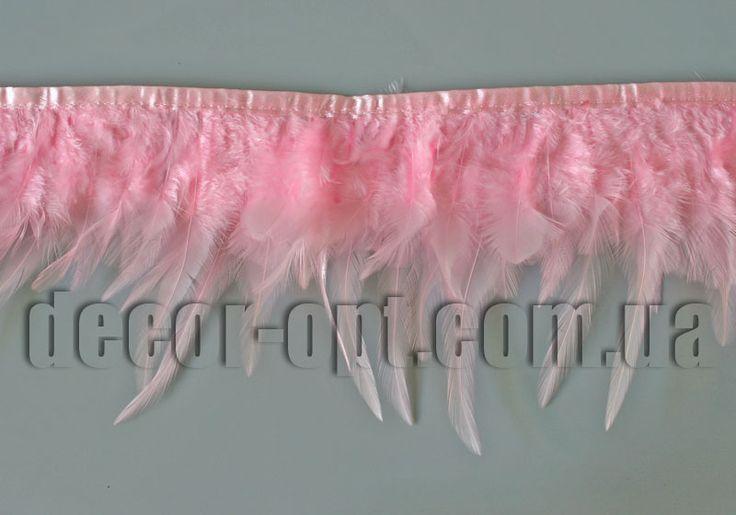 Перо-юбка розовая 8-13см/48-50см