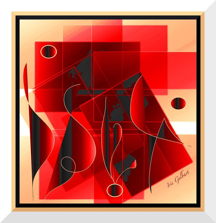 Абстрактное искусство Цифровое искусство - Мелодии по Айрис Гелбарт