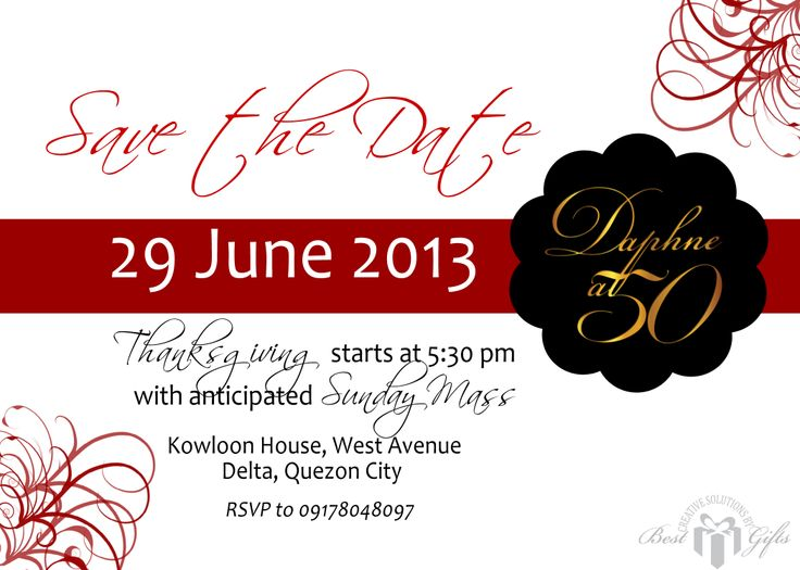 save the date card for 60th birthday celebration