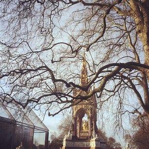 The #Burberry Menswear Autumn/Winter 2014 show space in Kensington Gardens #LCM
