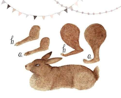 Rabbit Articulated Paper Doll Printable by ohmycavalier on Etsy