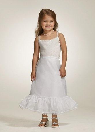 David's Bridal Flower Girl Medium Fullness A-line Slip size 3-6. Style 702