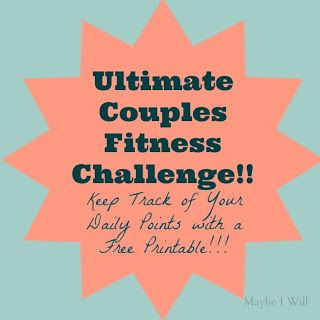 This is AWESOME!!! Compete with your spouse in the Ultimate Couples Fitness Challenge! So Fun and a great way to promote and support each other on the road to better health! Free Printable Tally Sheet! #couplesfitness #fitness #weightloss #challenge