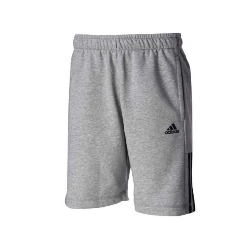 Adidas-Trainingshose-Bermuda-Hose-kurz-Sporthose-grau-Climalite-Baumwolle-NEU