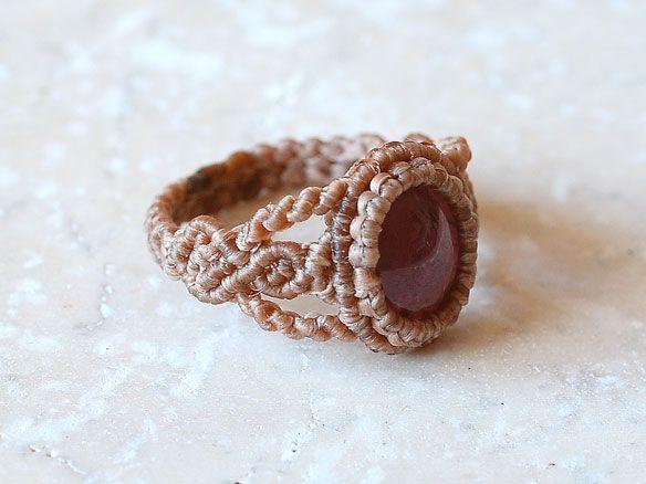 Star Garnet Gemstone Ring