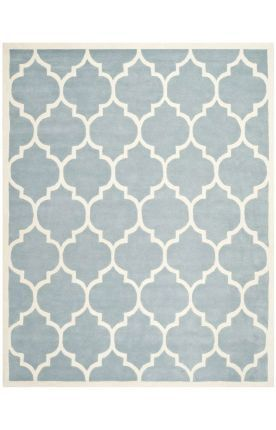 Safaviehchathamcht733 Rug Blue Ivory Living Rooms And
