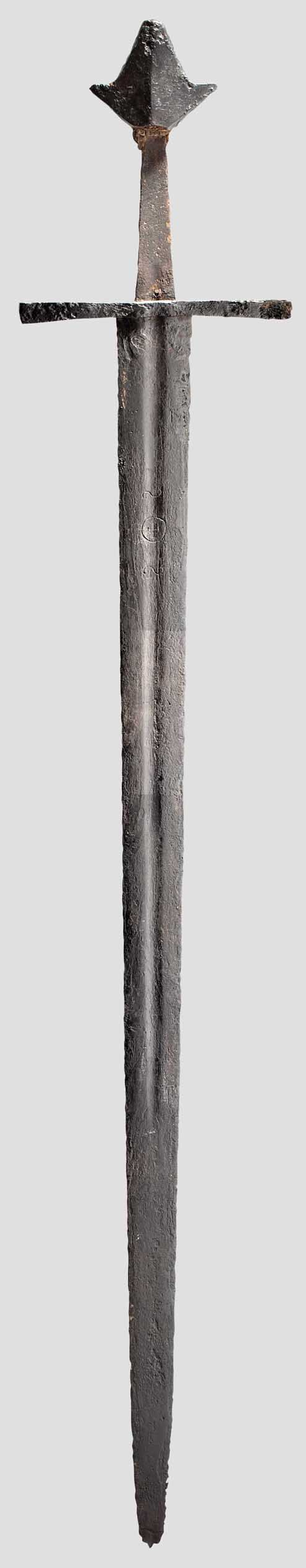 A very particular 13th century European arming sword.                                                                                                                                                                                 More
