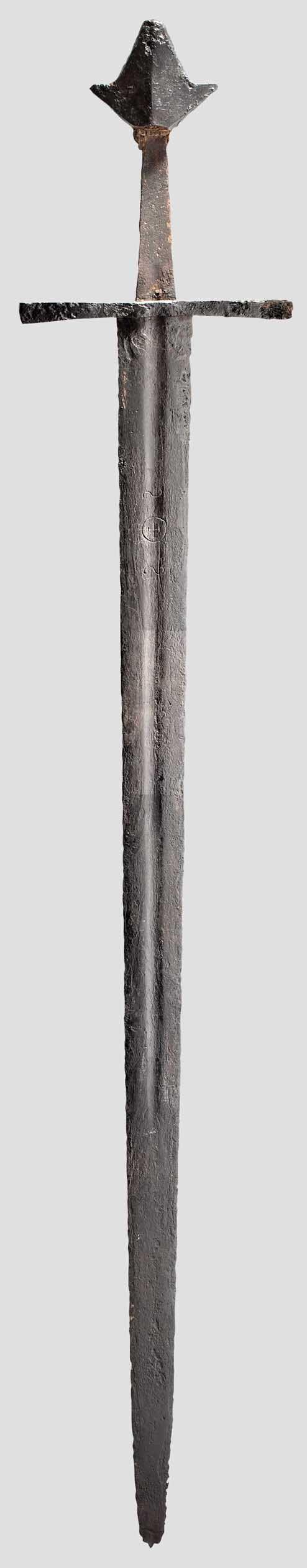 A very particular 13th century European arming sword.                                                                                                                                                                                 More