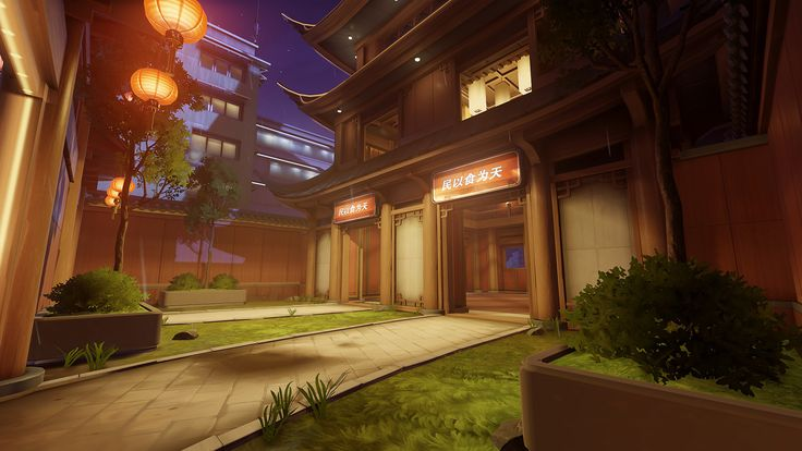 ArtStation - Overwatch - Lijiang Tower, Thiago Klafke