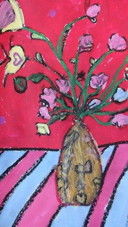 "From exhibit ""Flower Still Life"" Artsonia Art Museum :: Artwork by Hailey6857  My Granddaughter-Grade 4"