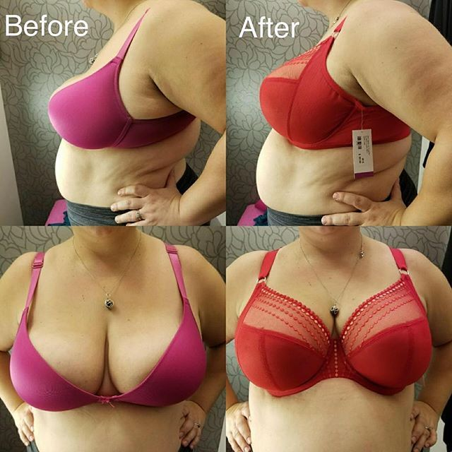 #transformationtuesday This client left so much happier, more comfortable and confident! It really is amazing what a bra fitting can do for you! The after bra is the #Elomi Matilda #lingerieforallsizes #brafitspecialist #ourfittersareawesome @elomilingerie