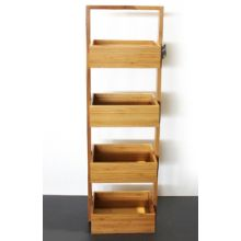 Store&Order - 4 Tier Bamboo Bathroom Caddy