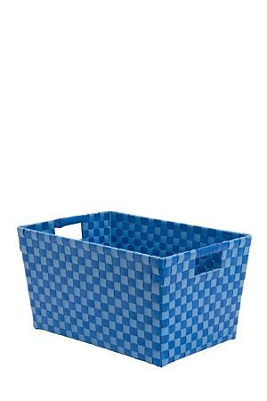 "This woven plastic utility basket is great as a storage container.Waterproof and easy to clean, wipe with a damp cloth if it ever gets dirty. Made from plastic polypropelene.<BR><BR><b class=""descTitle"">Dimensions:</b><BR>L36xW26xH32 cm"