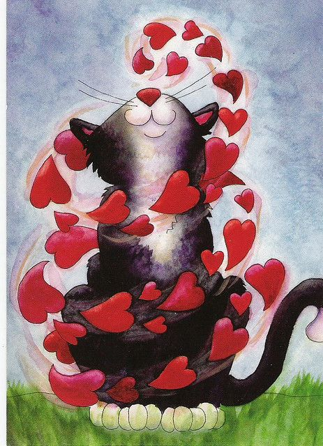 love by talas, via Flickr: Cat Art, Kitty Cat, Kitty Heart, Tuxedos Cat, Queen Of Heart, Graphics Design, Smile Heart, Art Cat, Valentines Cards