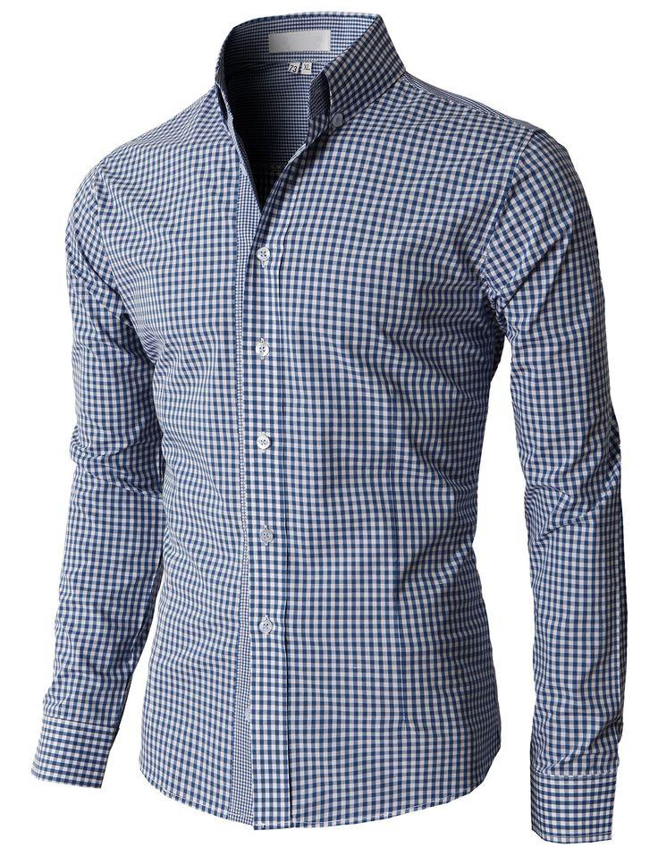 doublju men 39 s casual stripe patterned button down. Black Bedroom Furniture Sets. Home Design Ideas