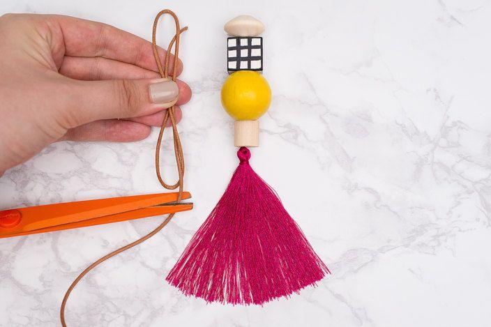 DIY Wood Bead Keychains