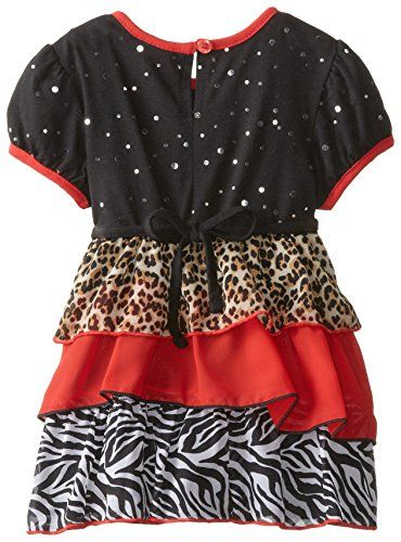 Youngland Little Girls' Tiered Animal Print Legging Set, Red/Multi, 6X  - Click image twice for more info - See a larger selection of little girl skirt sets at http://girlsdressgallery.com/product-category/skirt-sets/ - girls,toddler,little girls clothing, little girls fashion, little girls dress, little girls fashion, baby, gift ideas