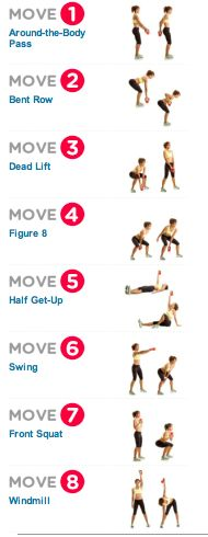 kettlebell workout. i am obsessed with kettlebells...