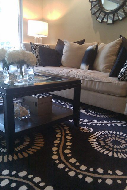 Black And Tan Modern Traditional Living Room Part 13