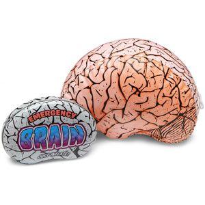 $6.99 ThinkGeek :: Emergency Inflatable BrainZombies Apocalypse, Apocalypse Zombies Supplies, Emergency Inflatable, College Students, En Cas, Colleges Student, Student Care, Packaging Ideas, Inflatable Brain