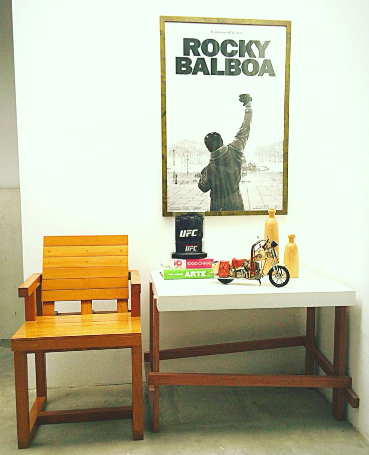 Ipanema Chair/ Favela sidetable / pica from Rock Balboa