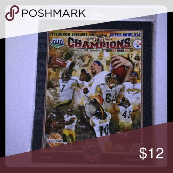 PITTSBURGH STEELERS Super Bowl Champions 8x10 NFL Brand new! OFFICIALLY LICENSED Full color 8x10 Limited Edition photos only 5000 ever made. Pittsburgh Steelers Other