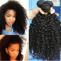 Malaysian Afro Kinky Curly Hair 3 Bundles 8A Unprocessed Malaysian Kinky Curly Virgin Hair Malaysian Deep Curly Human Hair Extensions