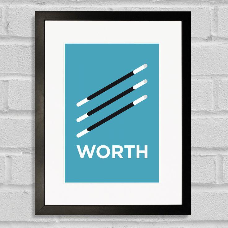 Pate Wandsworth Neighbourhood Pun Art Poster Print Black Frame