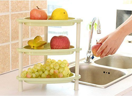 Da.Wa 3-layer combination kitchen and toilet shelves,plastic storage rack. Numbe… – most beautiful shelves
