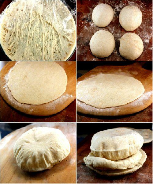 Pişmiş Balon Ekmek (Pide) Bu sadece serin, ama yumuşak, kabarık ve lezzetli!