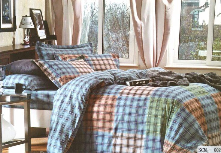 Checks 100% Cotton bedsheet