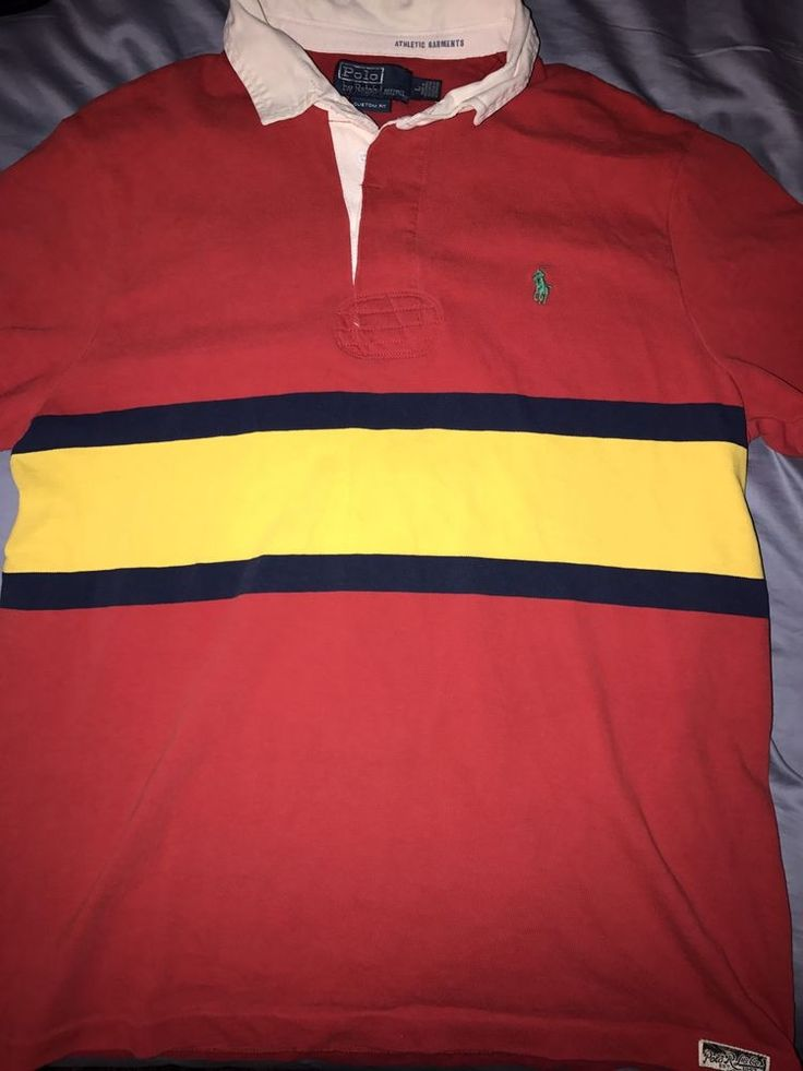Polo Ralph Lauren Men's Custom Fit Rugby Polo Shirt Size Large Striped | Clothing, Shoes & Accessories, Men's Clothing, Casual Shirts | eBay!