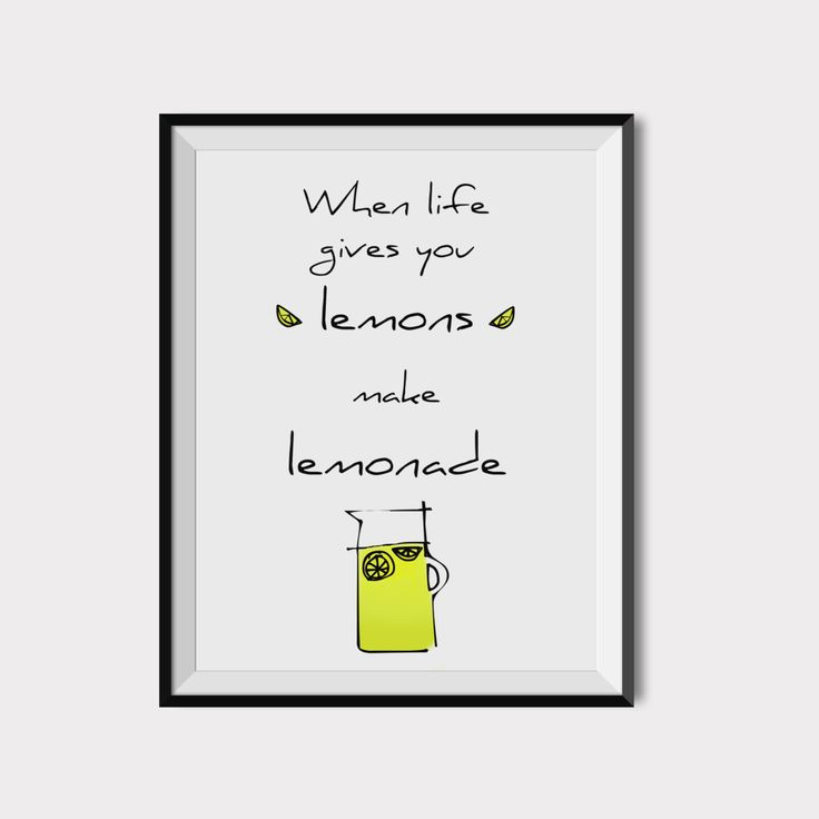 When life gives you lemons, Kitchen wall art, Printable lemon quote, Kitchen art prints, Citrus print, Scandinavian kitchen art, Lemon Print.  This listing is for an INSTANT DOWNLOAD of 2 JPEG files of this artwork. Just purchase the listing and your print is ready to download instantly. Why not print one for a friend, or just for fun?  Once you purchase the poster you will receive the following files:  - 1 JPEG high resolution (300 dpi) file 8x10 inches. - 1 JPEG high resolution (300 dpi)…