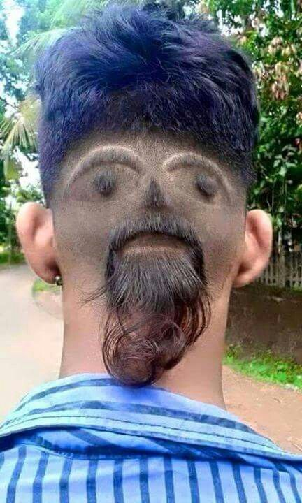 141 best weird hare cut images on pinterest hairstyles