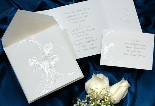 Calla Lily Wedding Invitation - Floral - Elegant - Pearlized - Ivory   #calla #lily #wedding #invitations