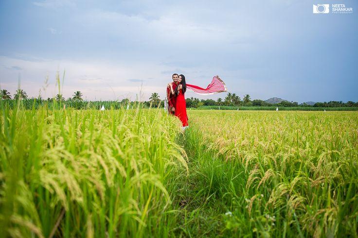 Red always looks great in outdoor shoots. #neetashankar #prewedding #photoshoot