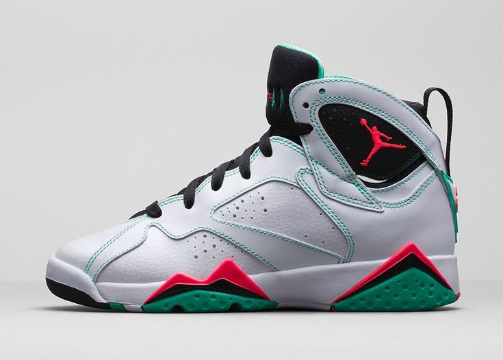 The Air Jordan 7 Retro GS White Infrared Black Verde is set to release in  March 2015 to go along with the Air Jordan 7 Retro